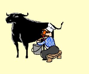 Milking Bull